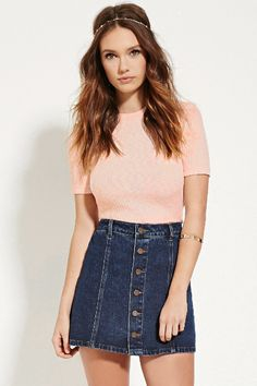 Ribbed Knit Top   Forever 21 - 2000151655