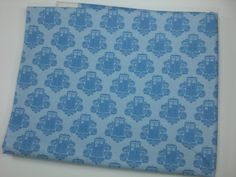 Dr Who Fabric Fat Sixth - Blue Tardis Damask. $6.00, via Etsy.