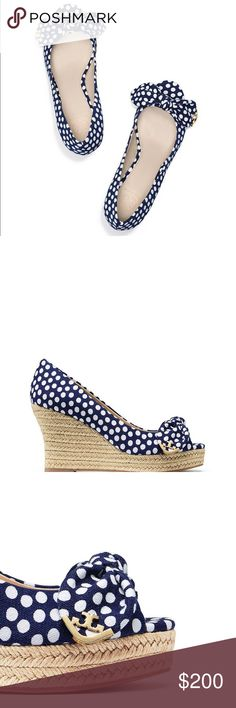 ebc32f4ca568 Tory Burch Dory Peep Toe Espadrille printed canvas Spotted  the height of  easy elegance.