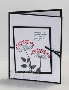 Jill's Card Creations: With Sympathy real red, black,( 2nd version sahara sand)