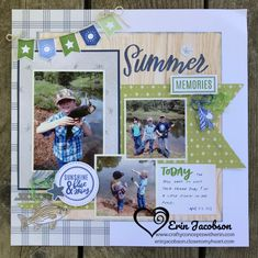 Summer Memories – Crafty Concepts with Erin I created this outdoorsy themed layout from the Sweet Girl deluxe kit! Summer Memories – Crafty Concepts with Erin I created this outdoorsy themed layout from the Sweet Girl deluxe kit! Scrapbook Journal, Baby Scrapbook, Scrapbook Paper Crafts, Scrapbook Cards, Wedding Scrapbook, Scrapbook Layout Sketches, Scrapbook Designs, Card Sketches, Album Diy
