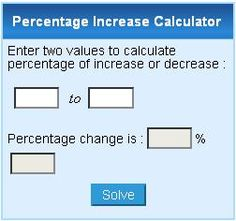 how to find percent increase calculator