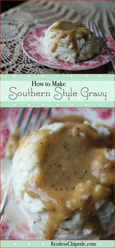 Southern Gravy- Learn how to make gravy perfect every time! There's nothing like homemade southern style gravy! From Classic Southern Gravy- Learn how to make gravy perfect every time! There's nothing like homemade southern style gravy. Basic Gravy Recipe, Homemade Gravy Recipe, Cajun Gravy Recipe, Southern Gravy Recipe, Country Style Gravy Recipe, Cornmeal Gravy Recipe, Easy Brown Gravy Recipe, Homemade Brown Gravy, Easy Gravy