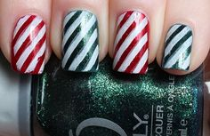 Candy Cane | 11 Holiday Nail Art Designs That Are Too Pretty To Pass Up
