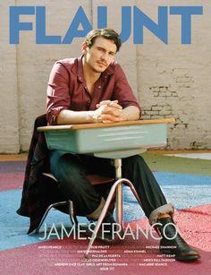James Franco en couverture de Flaunt Magazine.