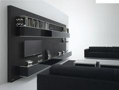 Contemporary TV wall unit / in wood - ELEVENFIVE by B. Fattorini - MDF Italia