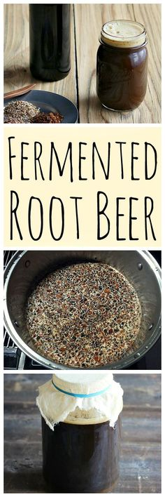 Fermented Root Beer: Homemade Soda Made With A Ginger Bug Learn how to make delicious homemade fermented root beer. Made with real roots and herb and a ginger bug for fermentation! Beer Recipes, Real Food Recipes, Cooking Recipes, Drink Recipes, Ginger Bug, Fermentation Recipes, Liqueur, Fermented Foods, Slushies