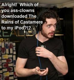 """Ron's"" iPod, Game of Thrones"