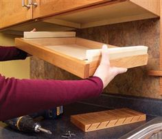 3 Kitchen Storage Projects Squeeze more space from your cabinets with customized roll-outs. by Eric Smith and David Radke It's time to increase the storage space in your kitchen by accessing its u
