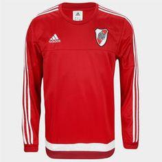 Buzo adidas River Plate SWT 2016 - Rojo+Blanco