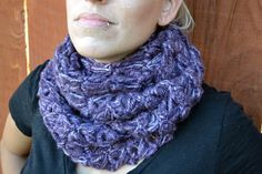Passionate purple broomstick lace crochet scarf by ValkinThreads, $47.00  #scarf…