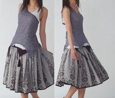 Quiet Summer  cotton tank and vest set Y1205 by idea2lifestyle, $37.00