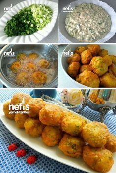 Puf Puf Pırasalı Mücver – Nefis Yemek Tarifleri How to make Puff Puff Leek Muckli Recipe? Illustrated explanation of this recipe in the book of people and photos of those who have tried here. Yummy Recipes, No Dairy Recipes, Easy Cake Recipes, Yummy Food, Vegetarian Recipes, Turkish Recipes, Ethnic Recipes, Meal Planning, Easy Meals