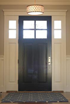 BDG Style - must paint interior of my front door black next summer. Love the door and side lights.