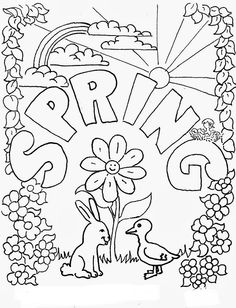 Spring Coloring Pages Templates