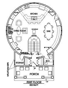Grain bin home floor plan