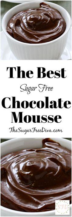 The Best Sugar Free Chocolate Mousse