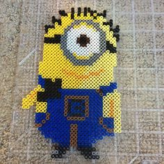 Despicable Me Minion perler beads by forever_country_gurl