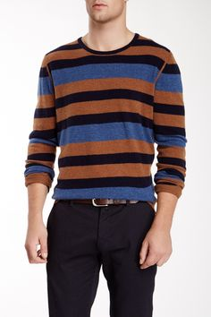 Barque Combo Stripe Wool Blend Sweater by Barque on @HauteLook