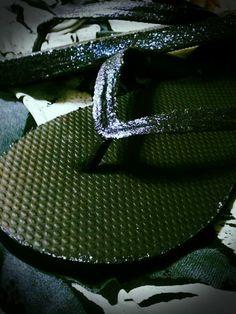 Black Glitter Fancy Flip Flops by fancyflop on Etsy, $32.00