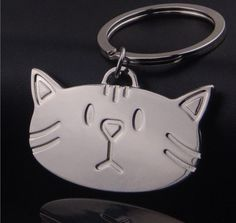 New Big Face Cat Kitty Key Ring Cartoon Alloy Key Chian Handbag Pendant Keychain  | eBay
