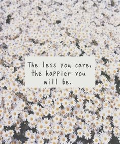 The Less You Care, The Happier You Will Be Pictures, Photos, and Images for Facebook, Tumblr, Pinterest, and Twitter