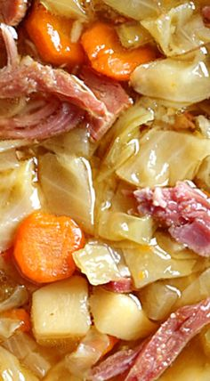 Leftover Ham Bone Soup with Potatoes and Cabbage Leftover Ham Bone Soup with Potatoes and Cabbage,Ham bone soup Leftover Ham Bone Soup with Potatoes and Cabbage There are images of the best DIY. Crock Pot Recipes, Chili Recipes, Pork Recipes, Cooker Recipes, Ham Bone Recipes, Leftover Ham Recipes, Amish Recipes, Dutch Recipes, Recipes With Cooked Ham