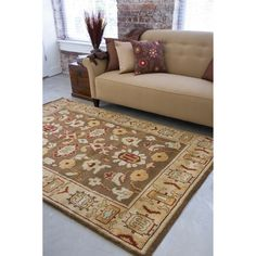 Hand-knotted Brown Southwestern Park Ave New Zealand Wool Rug (8' x 11') | Overstock™ Shopping - Great Deals on Surya 7x9 - 10x14 Rugs