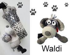 Häkelanleitungen - häkeln anleitung Hund einkaufsnetz kinder netz - ein Designerstück von Design-Studio bei DaWanda