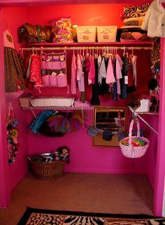 bottom of kids closet as dress up storage