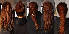 Dreads and colored hair Dreads Styles, Dreadlock Styles, Dread Braids, Dread Bun, Short Hair Dont Care, Beautiful Dreadlocks, Dreads Girl, Natural Hair Styles, Long Hair Styles