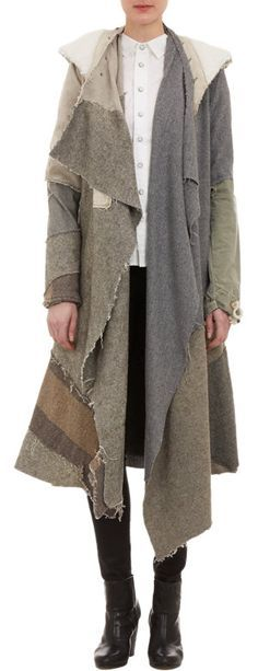 Holy Crap, I gotta charge more. Greg Lauren Deconstructed Nomad Coat at Barneys.com $3,375.00. Yes, you read that right.