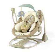 Travel swing - Bright Starts Kashmir Ingenuity Smart and Quiet Wing Baby Swings And Bouncers, Baby Bouncer, Baby Grows, Toy Store, Baby Accessories, Baby Gear, Future Baby, Baby Items, Baby Car Seats