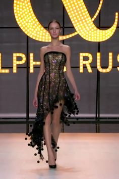 Ralph & Russo Look 9 - Gorgeous Embellished Black Asymmetric Strapless Sheath Cocktail Dress / Cocktail Gown. Spring Summer 2019 Couture Collection by Ralph & Russo Source by zynism - Elegant Dresses, Sexy Dresses, Beautiful Dresses, Evening Dresses, Casual Dresses, Dresses For Work, Summer Dresses, Formal Dresses, Wedding Dresses