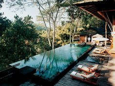 COMO Shambhala Estate in Ubud, Bali A 23-acre site with a natural spring known for its healing properties. This Destination Spa of the Year also has a Vitality pool, private treatment areas beside the River Ayung, indoor and outdoor gyms, a climbing wall, yoga pavilion, and Pilates studio? This one has it all! Need more action?  Hit the mountain bike, go hiking, or whitewater rafting.  http://www.comohotels.com/comoshambhalaestate