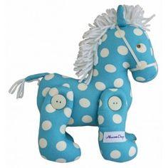 Alimrose - Jointed Toy Pony - Aqua Polka Print