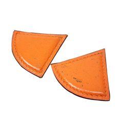 Hermes Metal Leather Earring