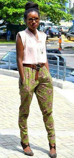 Pantalon en pagne