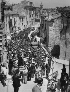 "Procession with Anthony / 1948 Procession / La processione di San Antonio"" (Procession with the sculpture of St. Anthony of Padua in Bonefro (Italy). tony vaccaro)"