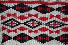 This is a cross stitched pattern and the main colors are red, white and black. The pattern weave has kind of vertical diamond shapes (Waharua kōpito) Maori Designs, Best Design Books, Book Design, Ag Day, Maori Patterns, Flax Weaving, Finger Weaving, Maori Art, Weaving Patterns