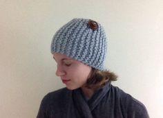 Blue Gray Knitted Wool Blend Headband Earwarmer Women Fashion Teen Fashion by LibertysBoutique on Etsy #headband #earwarmer #fashion #winterwardrobe #buttons #yarn