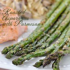 This is a quick easy side dish that's ready in less than 20 minutes - Roasted Asparagus with Parmesan