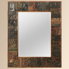 Large Block Print Mirror - Aurhous furniture catalog