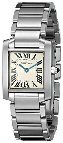 Cartier Women's Tank Francaise Stainless Steel Bracelet Watch Quality Watches on SALE ! Modern Watches, Luxury Watches, Watches For Men, Unique Watches, Ladies Watches, Wrist Watches, Vintage Watches, Cartier Santos, Stainless Steel Watch