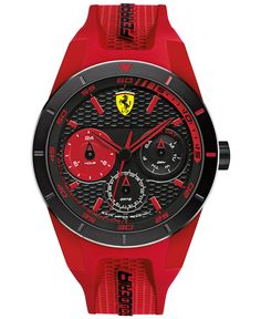 Scuderia Ferrari Men's RedRev T Red Silicone Strap Watch 44mm 830258 - Men's Watches - Jewelry & Watches - Macy's