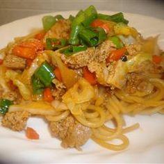 "Sesame Asian Tofu Stir-Fry | ""A bright stir-fry of tofu, shredded ..."