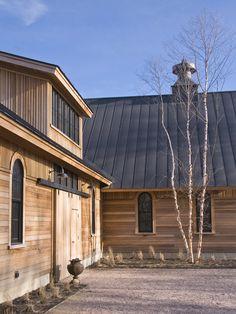 Modern wooden farm