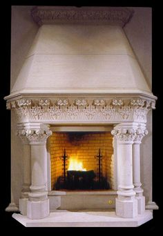 Romancing the stone fireplace design Stone Fireplace Designs, Contemporary Fireplace Designs, Fireplace Kits, Stone Fireplace Mantel, Fireplace Modern, Limestone Fireplace, Marble Fireplace Surround, Marble Fireplaces, Fireplace Surrounds
