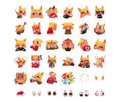 Chupito - Christmas Stickers on Behance