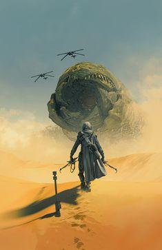 Arte Sci Fi, Sci Fi Art, Cover Art, Blade Runner, Dune Book, Dune Series, Dune Frank Herbert, Sci Fi Kunst, Dune Art